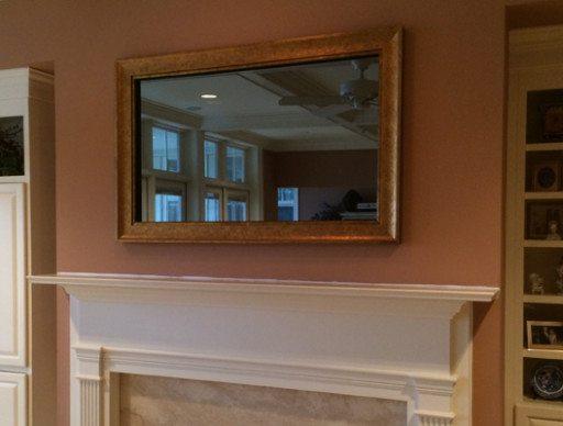 Custom Framed Mirror TV
