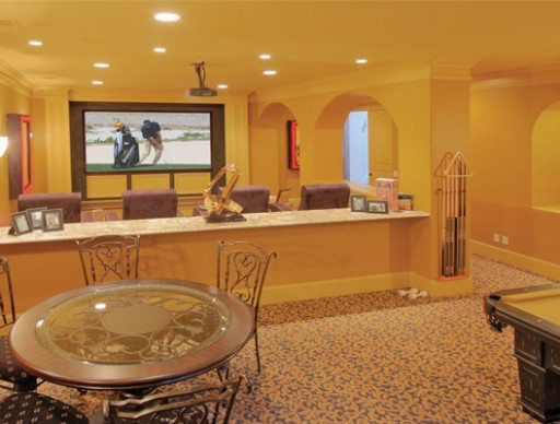 Home Theater and Billiard Room