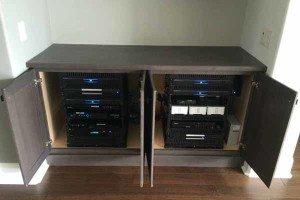 Hidden Audio Video Cabinet