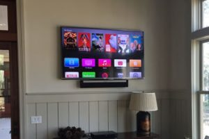 Mounted Sonos Playbar