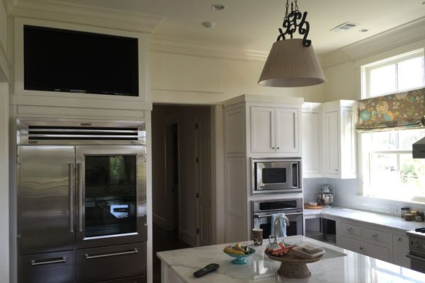Built-In Kitchen Cabinet TV