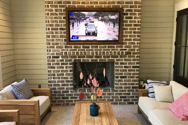 Recessed Tv On Brick Wall