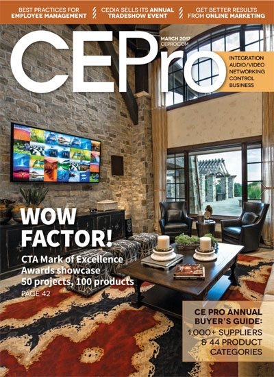 CEPro 2017 March Digital Magazine