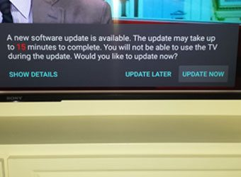 Sony Tv System Software Update Advanced Integrated Controls