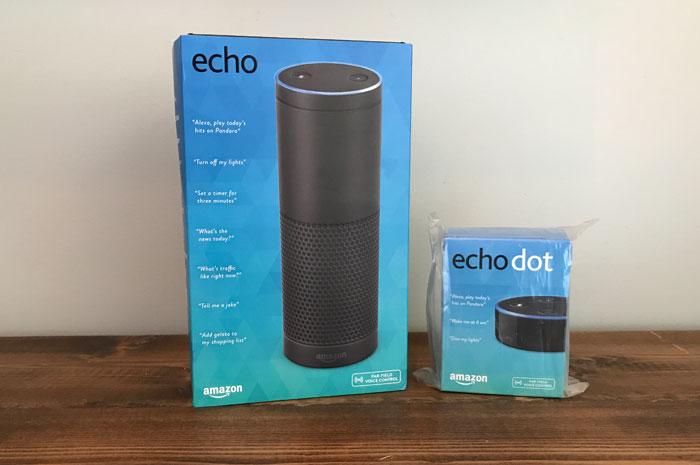 Amazon Echo and EchoDot