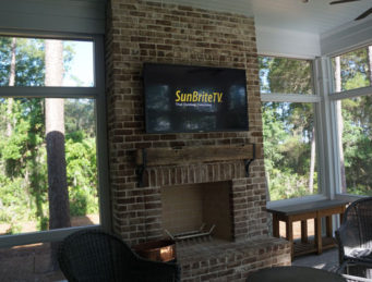 Outdoor SunBrite TV Installation in Palmetto Bluff