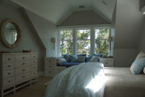 Open Lutron Roller Shades in a Bedroom