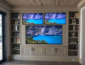Three Custom Recessed TVs