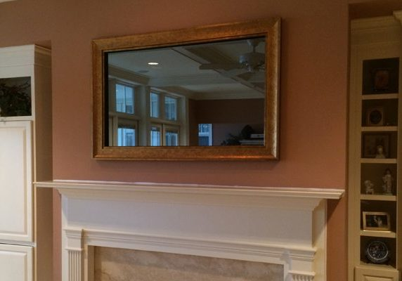 Custom Framed Mirror TV
