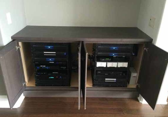 Hidden Audio Video Cabinet