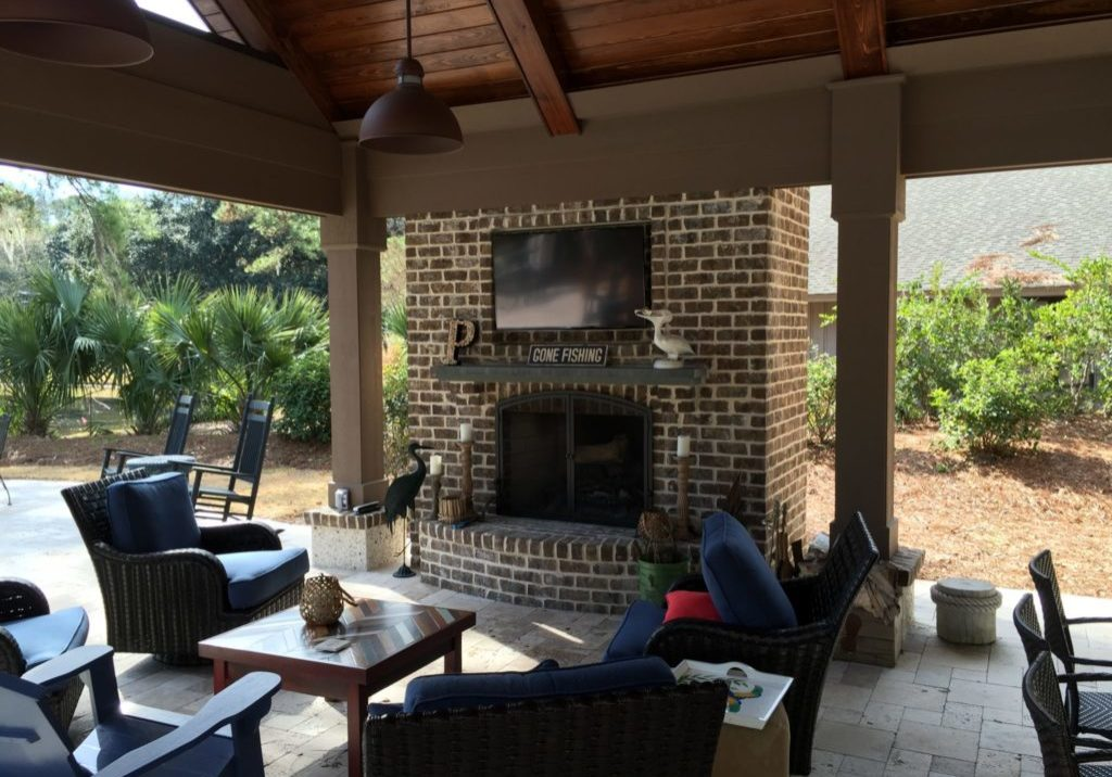 Hilton Head Outdoor TV and music system
