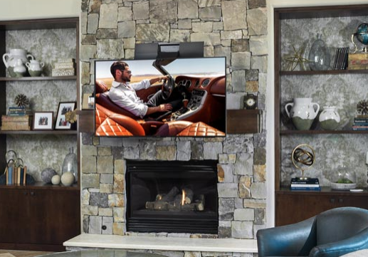 Over the mantle TV mount