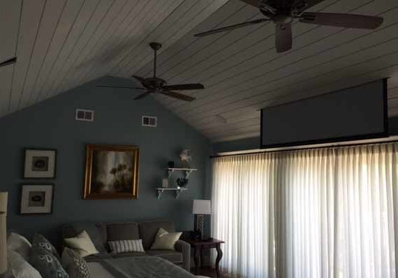 projector screen in ceiling