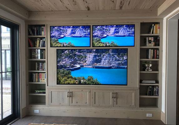 Three Custom Recessed TVs