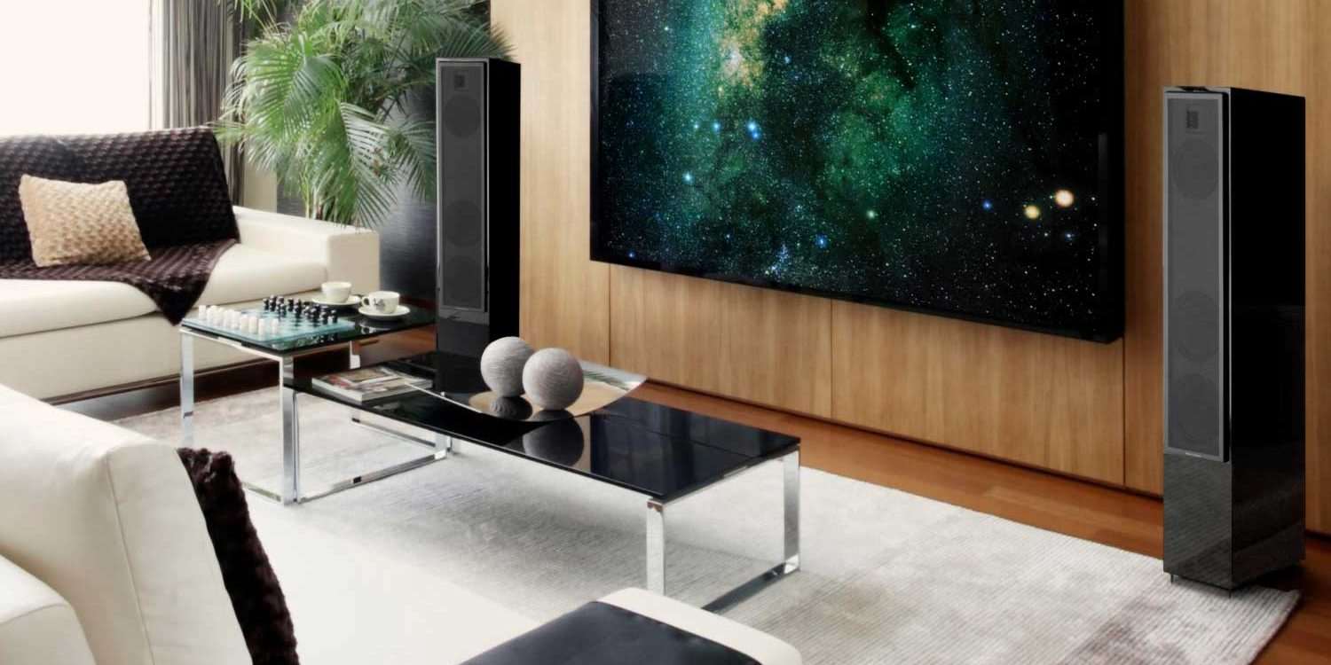 tower speakers living room